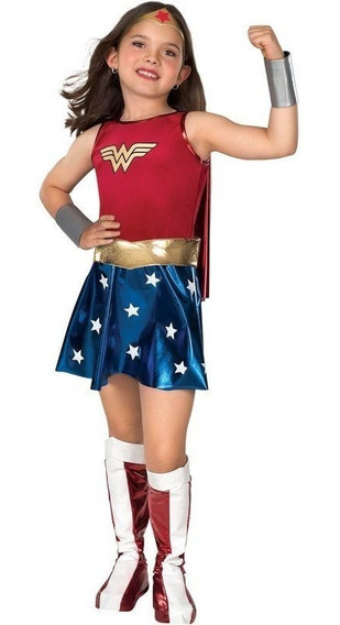 Disfraz Mujer Maravilla Niña Importado