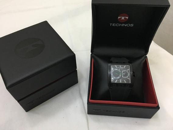 Relógio De Pulso Technos 6p25a Preto Quadrado 5atm Masculino