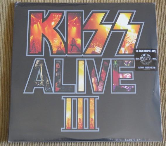 Kiss Alive Iii Lp Duplo 180gr Selado Crazy Lick Rock Revenge