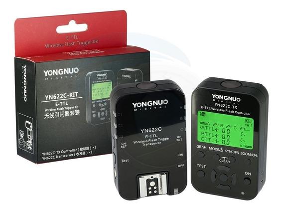 Rádio Flash Yongnuo Yn 622c Tx E-ttl Yn 622c Kit Para Canon