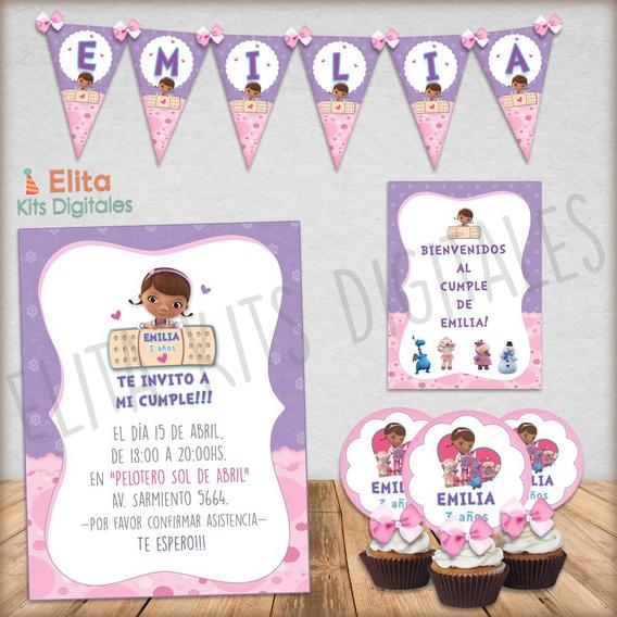 Kit Imprimible Doctora Juguetes Candy Bar Decoración Nenas