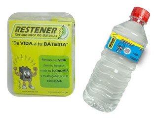 Kit Reparador De Baterías Para Autos Restener (2 Pzas)