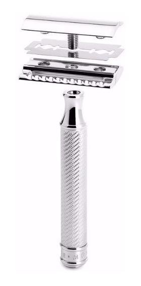 15 Aparelho Barbear Antigo De Metal Barba Retrô + 15 Laminas