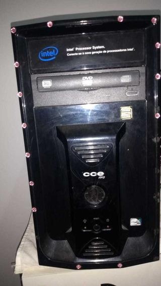 Pc Com Defeito - Cpu + Monitor + Caixa De Som