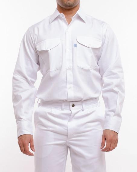 Camisa De Trabajo Ombu Blanca 36 Al 48 I3