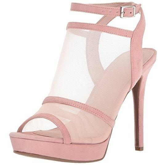 Zapatillas Guess Mujer Afra Heeled Sandal Rosa 6 Us
