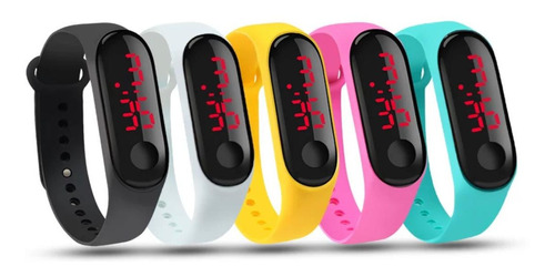 Kit 30 Relógio Pulseira Esporte Digital Led Colors Atacado
