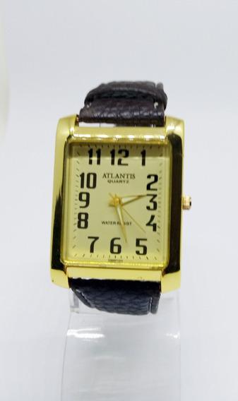 Relógio Masculino Atlantis Social Couro