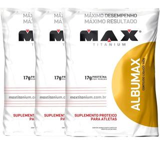 Kit 3 Albumina Maxtitanium Super Promoção Envio Rápido