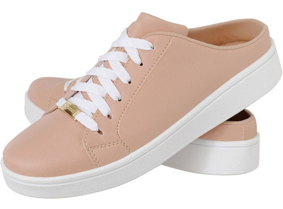 Mule Feminino Plataforma Branca Isa Shoes Lançamento 2019