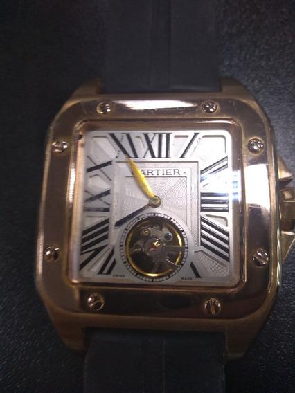 Relógio Suíço, Cartier Automático Em Ouro Rose