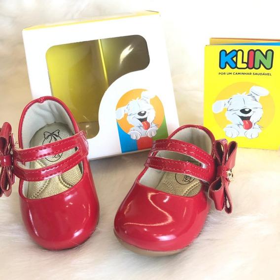 Sapatilha Sapato Verniz Bebê Klin Menina - 16332
