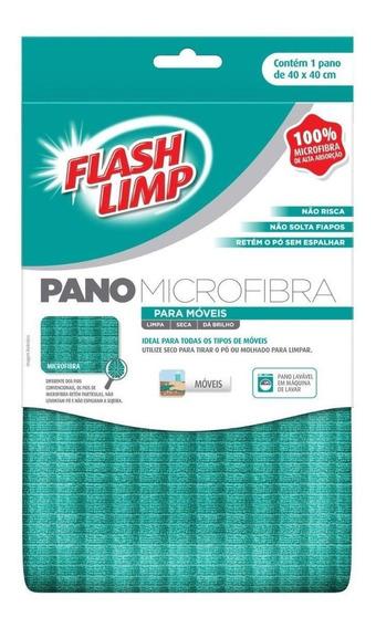Pano Microfibra Para Moveis Flash Limp Flp6728 Não Risca