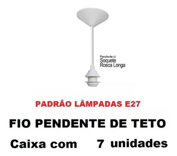 7 Fios Pendente Branco Completo Soquete E27 Luminária Lustre