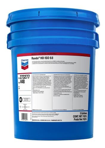 Imagen 1 de 6 de Aceite Hidráulico Chevron Rando Hd 68 18,93 Lts Usa Mileban