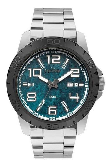 Relógio Condor Masculino Co2115kvf/5v Big Case Prateado