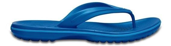 Sandalia Crocs Caballero Crocband Flip Azul