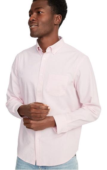 Camisa Hombre Casual Manga Larga Estampado Completo Old Navy