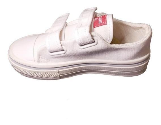 Zapatillas De Lona Con Abrojo Para Niños (art 02)