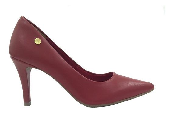 Sapato Scarpin Via Marte Napa Vermelho Escuro 2901