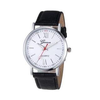 Reloj Hombre - Malla Cuero - Cuadrante Acero - Colores Vs