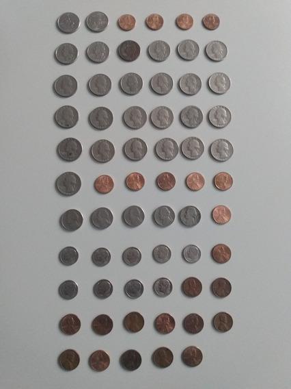 Lote De 65 Monedas Dólar
