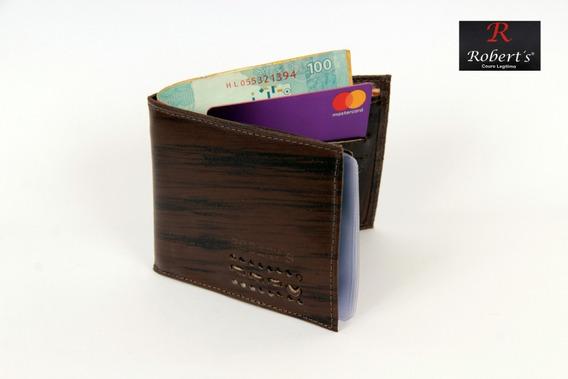 Carteira Em Couro Masculina Linda Porta Cartão Promoção