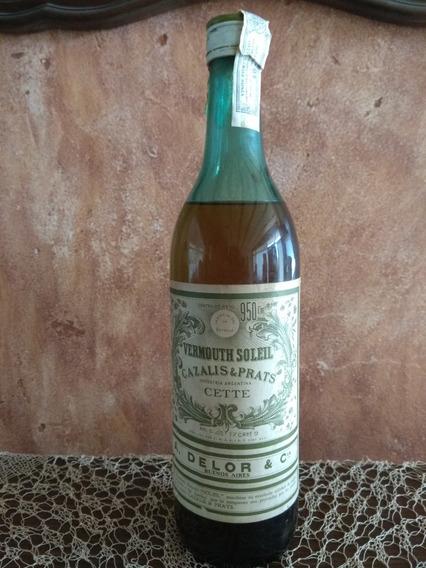 Antigua Botella Vermouth Soleil De Cazalis Y Prats, Cerrada