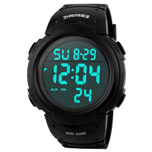 Relógio Pulso Masculino Skmei 1068 Digital Led Sports Preto