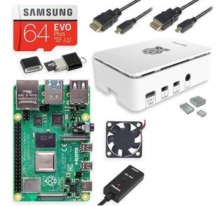 Kit Raspberry Pi 4, 4gb, Sd 64gb