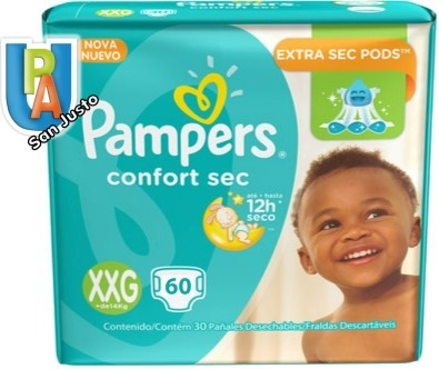 cde2096b8 Pampers Confort Sec Mes De Consumo Xxg X 56 Pañales - $ 415,00 en Mercado  Libre