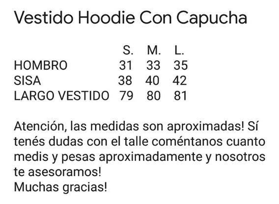 Vestido Hoodie Vestido C/ Capucha Entallado Mujer Verano 17`