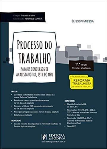 Processo Do Trabalho Analista Trt Tst E Mpu - 7ª Ed. (2018)