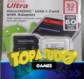 Cartao 32gb 3ds Original Pronta Entrega Com Jogos Loja Em Bh