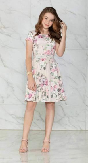 Vestido Feminino Adolescente Floral Zunna Ribeiro