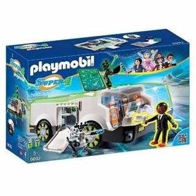 Brinquedo Playmobil Super 4 Veículo Techno Com Gene 6692
