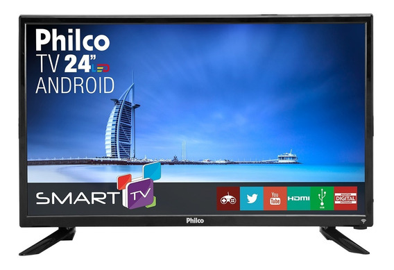Smart Tv Philco Led 24 Ptv24n91sa Bivolt