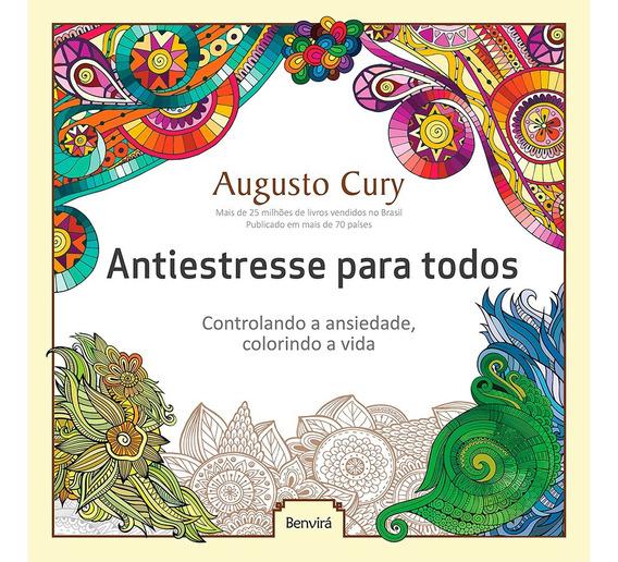 Livro Para Colorir Ansiedade Antiestresse Relaxante 48pag