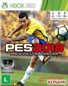 Pes 2018 Xbox 360 Jogo Digital Original Game Xbox Live