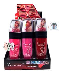 Kit 24 Batons Lip Gloss Tango Brilho Labial Atacado 3143