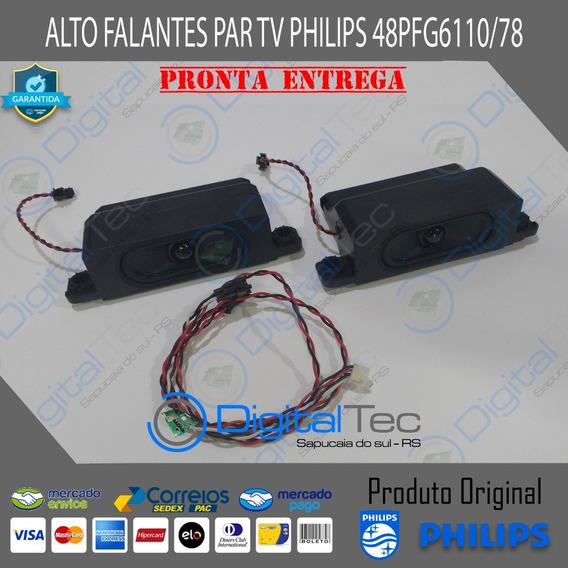 Alto Falantes Par Tv Philips 48pfg6110/78 Original + Flat