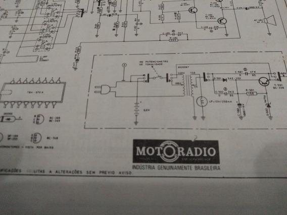 Esquema Eletrico Diagrama Radio Motoradio Acr-m32 Acrm32