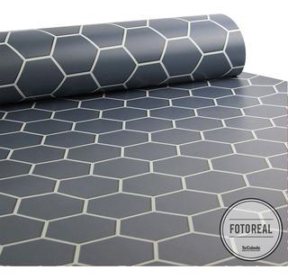 Adesivo Azulejo Pastilhas Colmeia 0,58x3,00m - Várias Cores