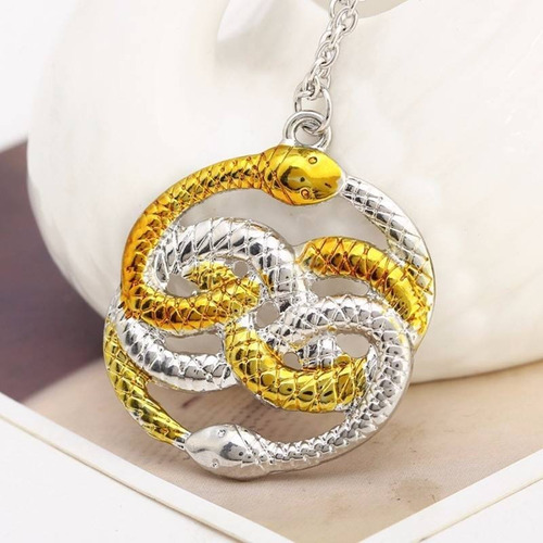 Imagen 1 de 2 de Historia Sin Fin Dije Collar Auryn Serpiente Doble Ouroboros