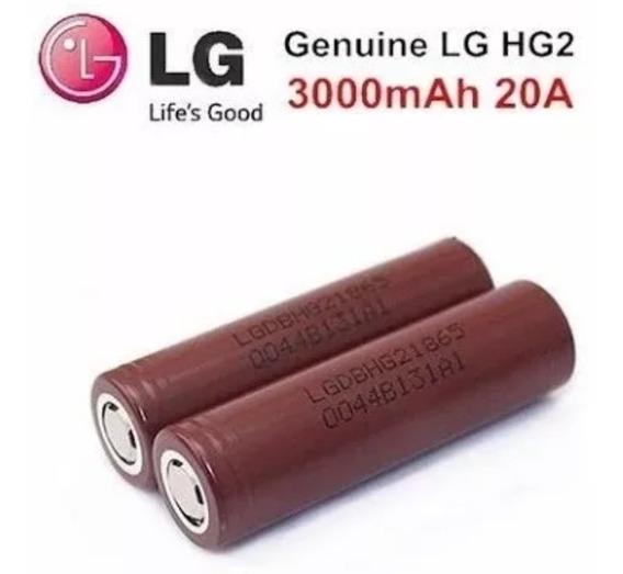 Bateria Lg Hg2 18650 Chocolate 3000mah Com 2 Unidade