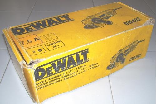 Esmeriladora Esmeril Angular Dewalt 4 1/2 Con Sus Manuales