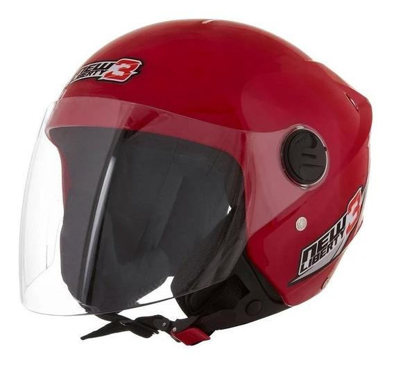 Capacete para moto aberto Pro Tork New Liberty Three vermelho tamanho 58
