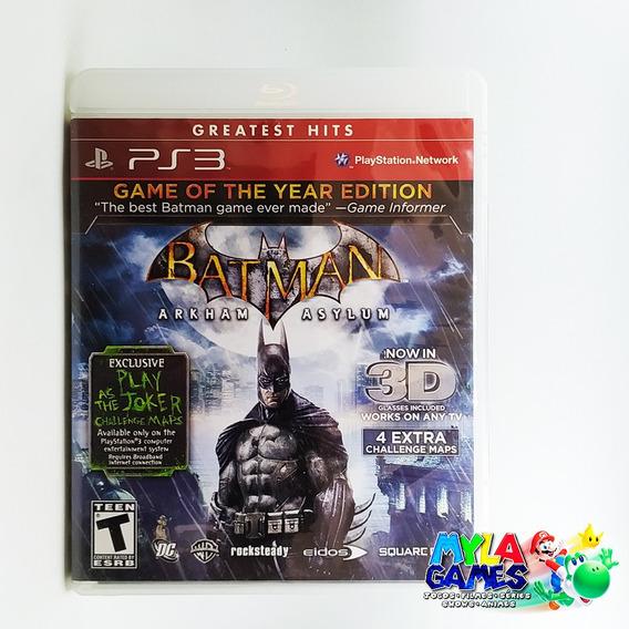 Batman Arkham Asylum Goty Ps3 Midia Fisica *usado*