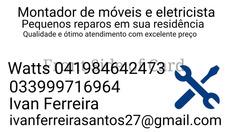 Montagem,desmontagem De Moveis,eletricista E Servicos Gerais