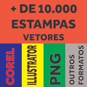 Estampas Camisas Canecas Chinelos Corel + Brinde 2019